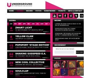 Underground Poppodium - Website