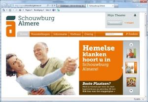Schouwburg Almere - website