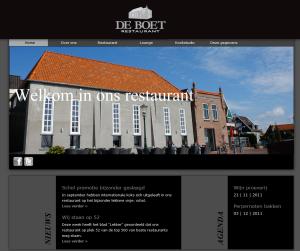 Website Restaurant De Boet