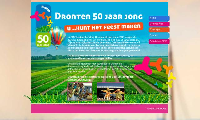 Dronten 50 jaar jong - website
