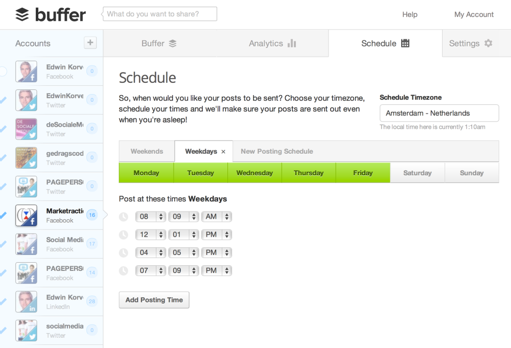 buffer-schedule