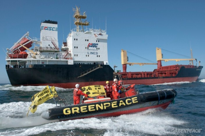 Greenpeace action Kapitan Kuroptev