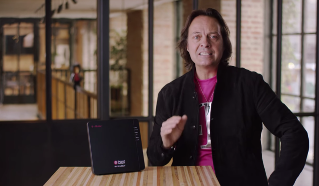 John Legere, CEO T-Mobile US with the Personal Cellspot